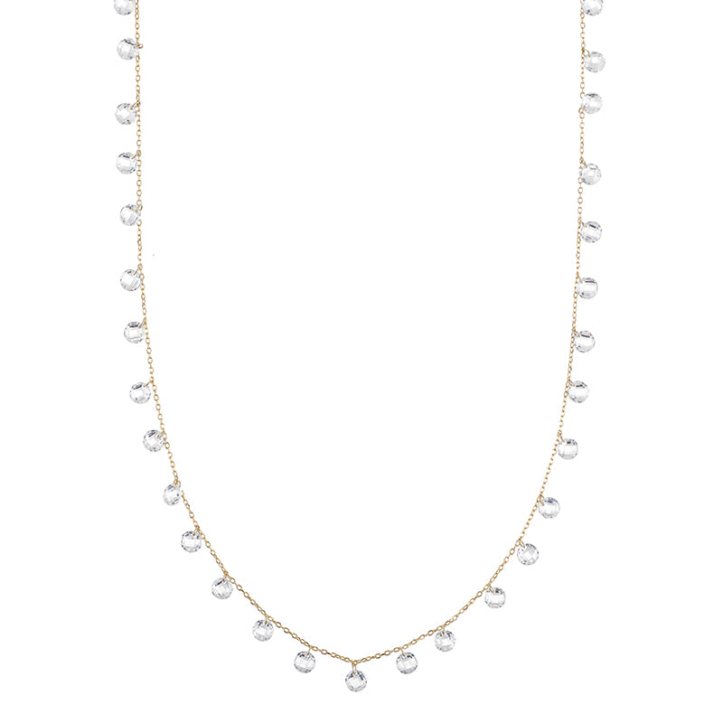 Melrose Floating CZ Long Necklace