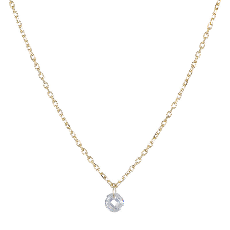 Melrose Floating CZ Short Necklace-Necklace-Ashley Schenkein Jewelry Design