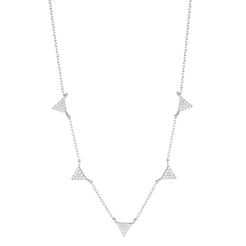 Melrose Pavé CZ Disc Necklace