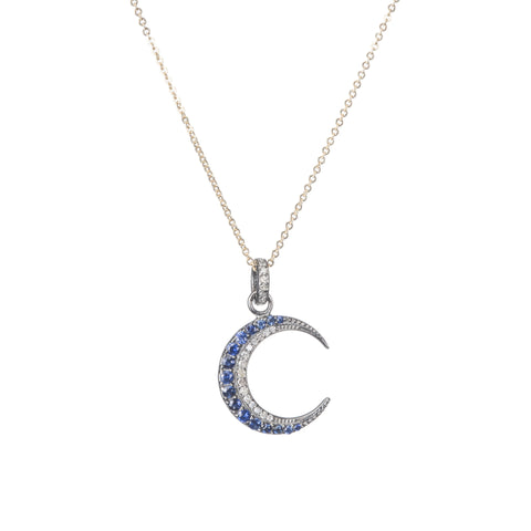 Brooklyn Moon with Sapphire Necklace