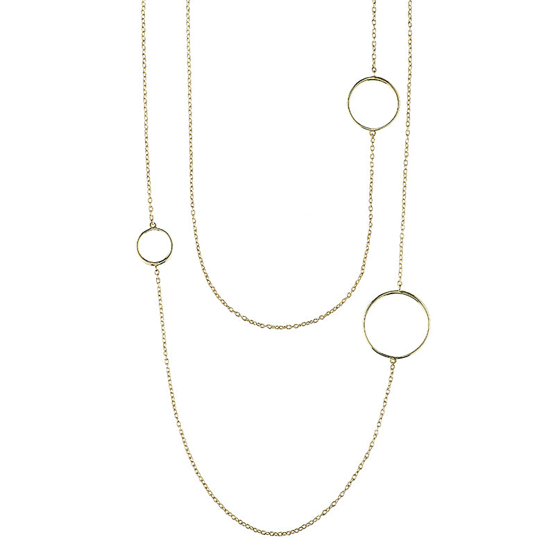 Greece Open Circles Long Necklace