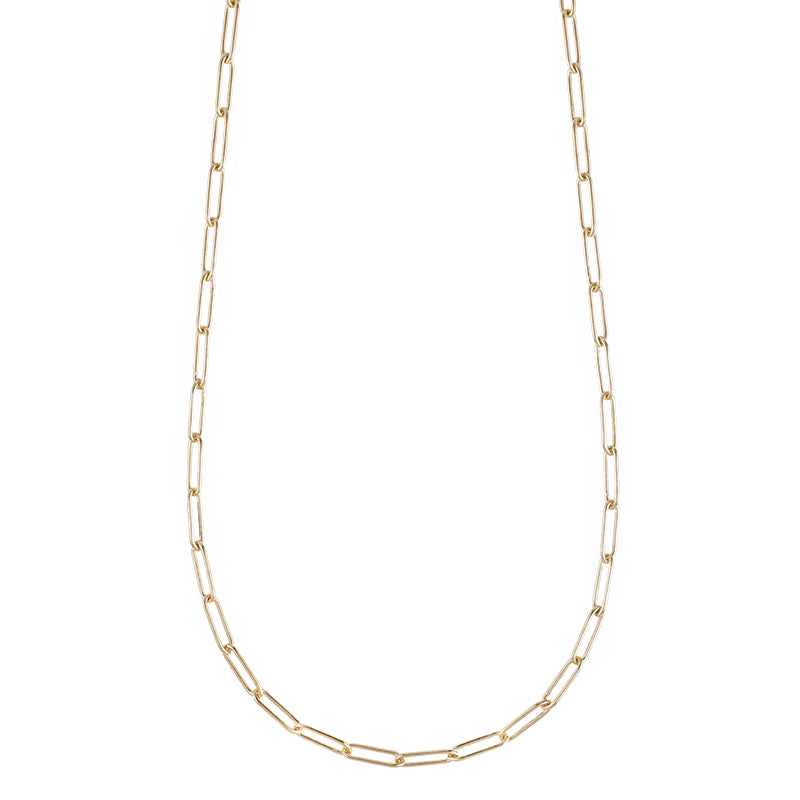 Tokyo Gold Rectangle Link Necklace