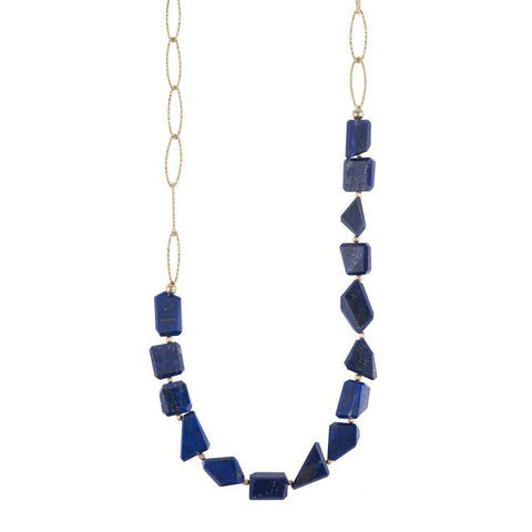 Portland Diamond Cut Chain Gemstone Necklace