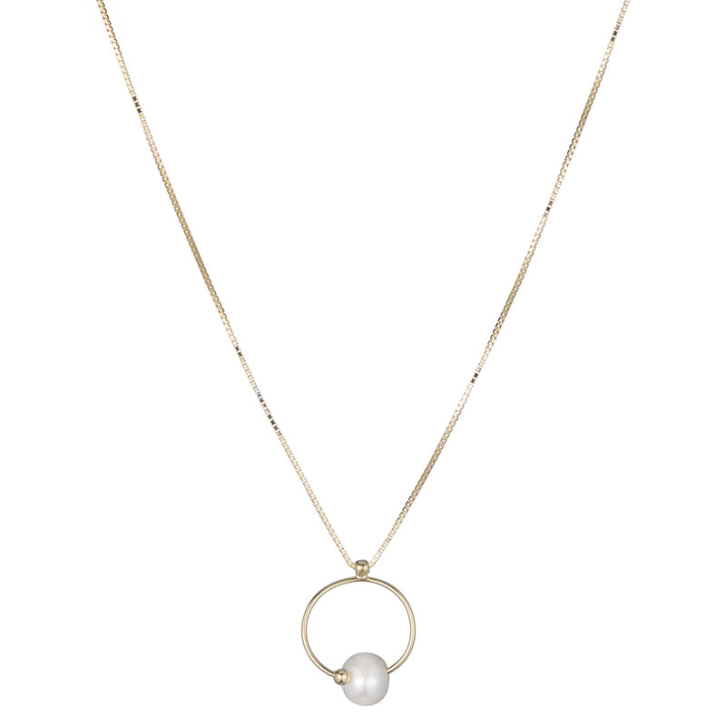 Tokyo Pearl Hoop Necklace-Necklace-Ashley Schenkein Jewelry Design