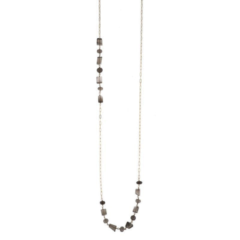 Portland Elongated Link Gemstone Necklace