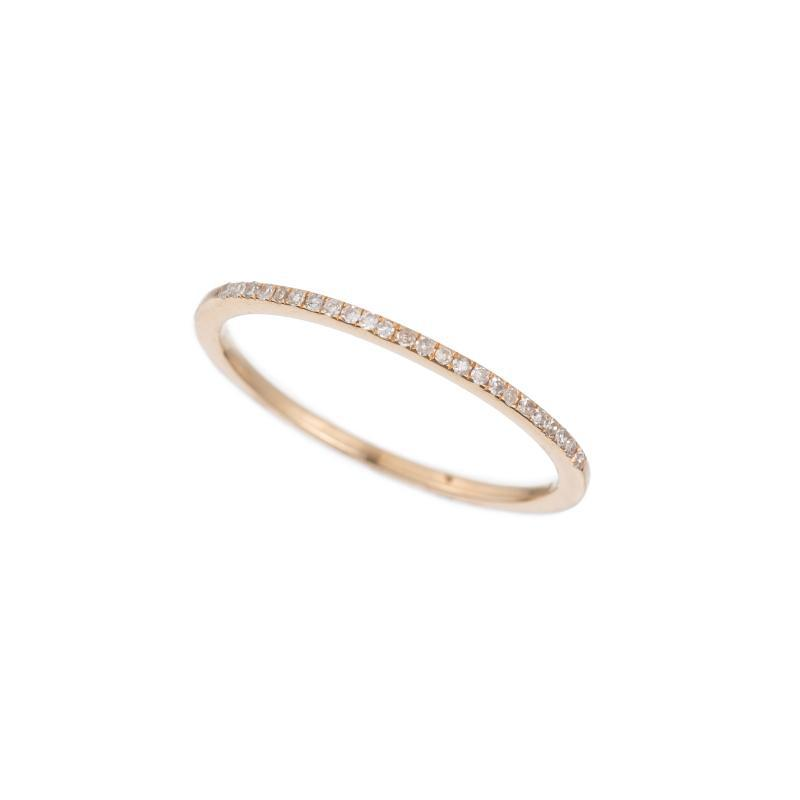 Diamond Pavé 1/2 Eternity Band, 14k-Rings-Ashley Schenkein Jewelry Design