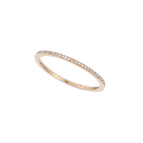 Diamond Pavé 1/2 Eternity Band, 14k
