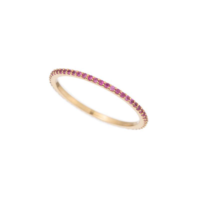 Pavé Eternity Band, 14ky-Rings-Ashley Schenkein Jewelry Design