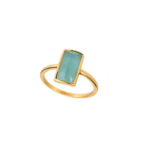 Croatia Vertical Rectangle Gemstone Ring