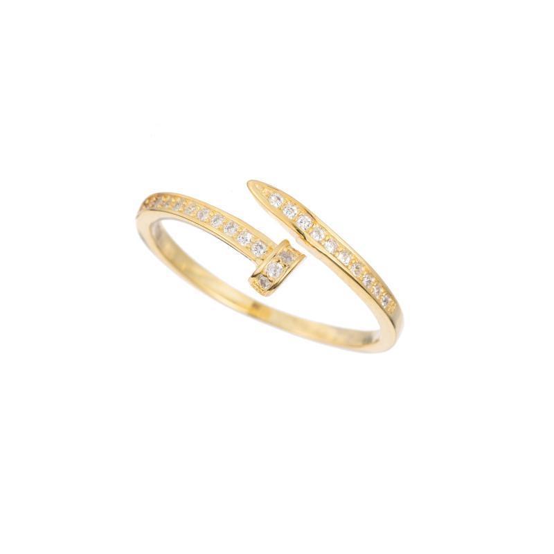 Melrose CZ Pavé Nail Wrap Ring-Rings-Ashley Schenkein Jewelry Design
