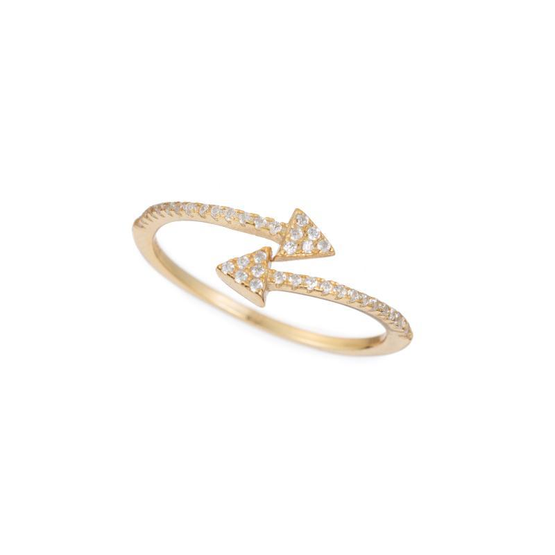 Melrose CZ Pavé Triangle Wrap Ring-Rings-Ashley Schenkein Jewelry Design