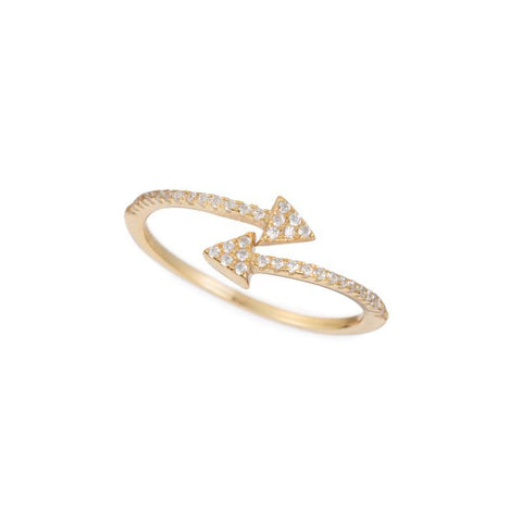 Melrose CZ Pavé Triangle Wrap Ring