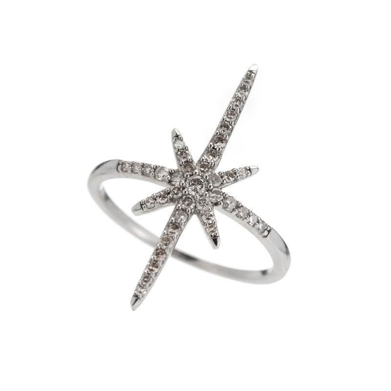 Brooklyn Diamond Pavé North Star Ring-Rings-Ashley Schenkein Jewelry Design