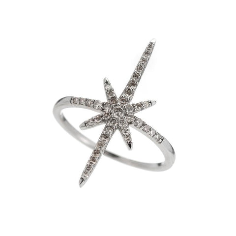 Brooklyn Diamond Pavé North Star Ring