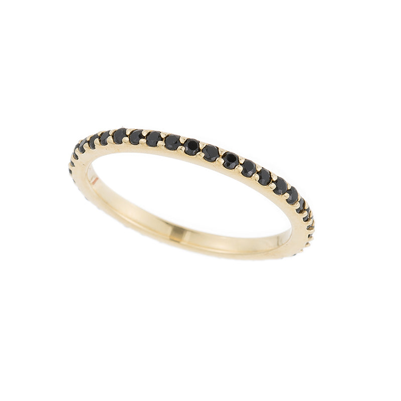Tokyo Pavé Gemstone Eternity Ring-Rings-Ashley Schenkein Jewelry Design