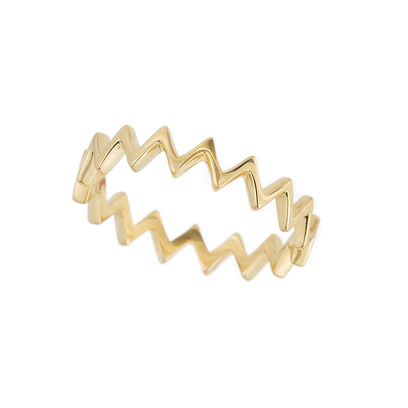 Tokyo Zig Zag Stacker Ring-Rings-Ashley Schenkein Jewelry Design