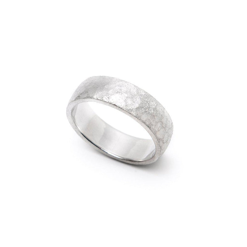 Men's Hammered Comfort Fit Wedding Band-Wedding Band-Ashley Schenkein Jewelry Design