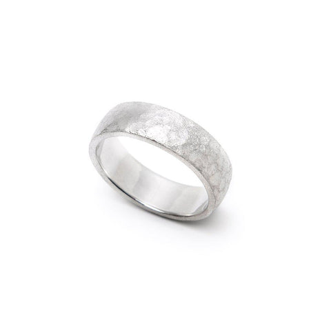 Men's Hammered Comfort Fit Wedding Band