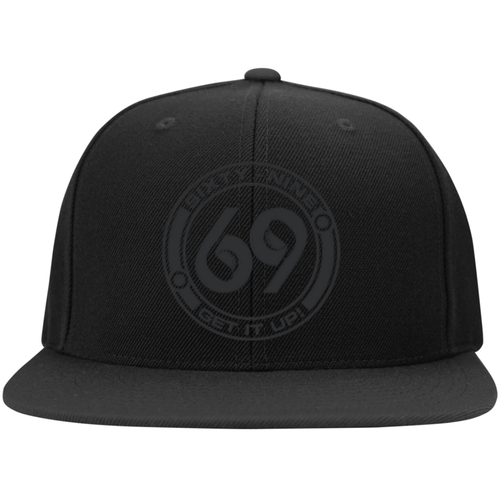 2c300613c 69 Degree Black on Black Snapback Hat