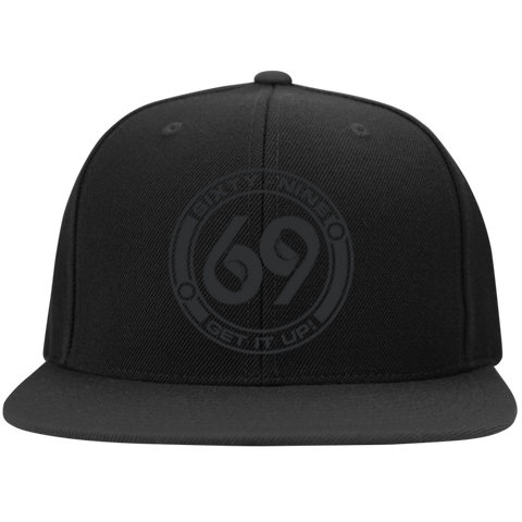 69 Degree Black on Black Snapback Hat