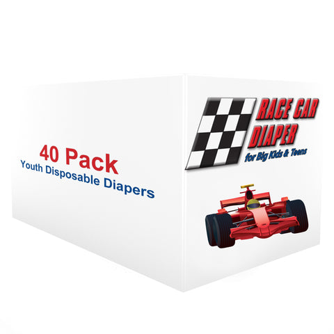 40 Pack Race Car Diapers