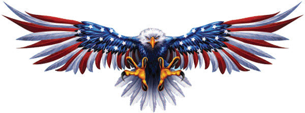 Bald Eagle American Flag Eagle Wings Decals With Free Shipping In
