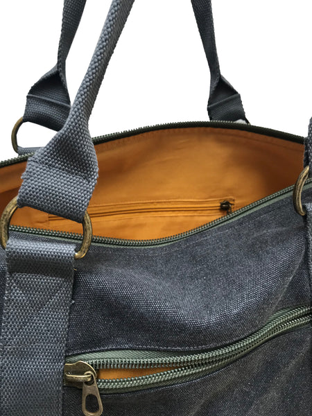 Overnight Duffle Bag</br>Canvas</br><small><i>(Charcoal)</i></small> - Meridian Lee