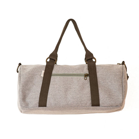 Overnight Duffle Bag</br>Waxed Canvas</br><small><i>(Dune)</i></small> - Meridian Lee