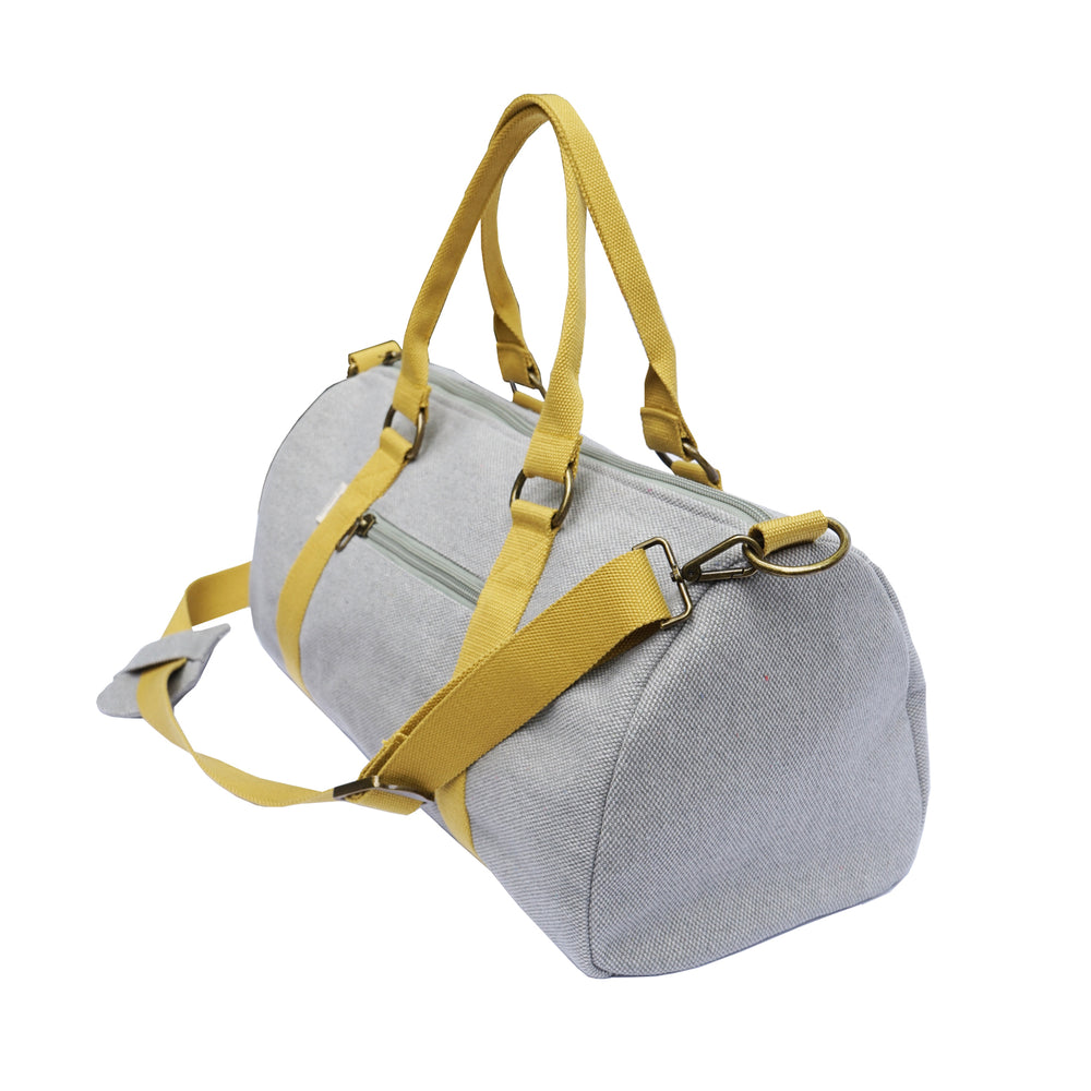 Overnight Duffle Bag</br>Chambray Canvas</br><small><i>(Dune/ Marigold)</i></small> - Meridian Lee