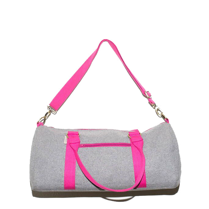 Overnight Duffle Bag</br>Sturdy Wool</br><small><i>(Light Grey/Pink)</i></small> - Meridian Lee