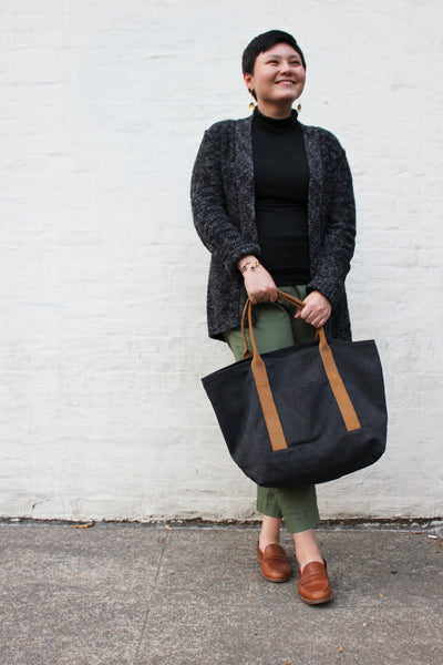 Market Tote</br><i><small>(Sienna and Coal)</i></small> - Meridian Lee