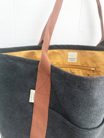 Market Tote</br><i><small>(Sienna and Charcoal)</i></small> - Meridian Lee