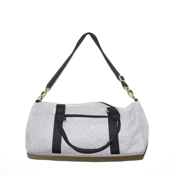 Overnight Duffle Bag</br>Sturdy Wool</br><small><i>(Light Grey/Black)</i></small> - Meridian Lee