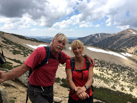 Lisa and Jim Daggett -- Climbing Jobs Peak, Sierra Nevada