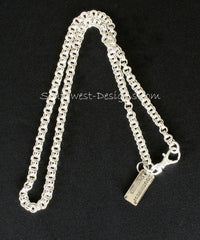 5.5mm Sterling Silver Two-By-Two Link Chain with Sterling Spring Ring Clasp