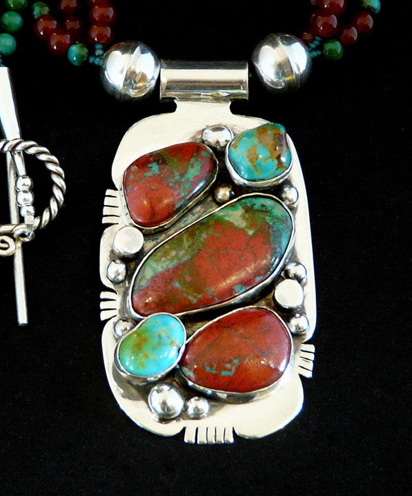 Sonora Sunset, Turquoise & Sterling Pendant