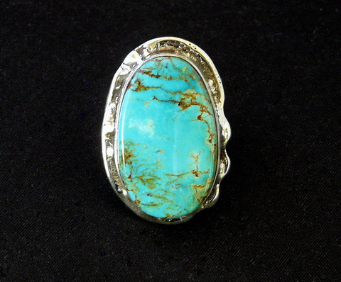 Evans Turquoise and Sterling Silver Band Ring