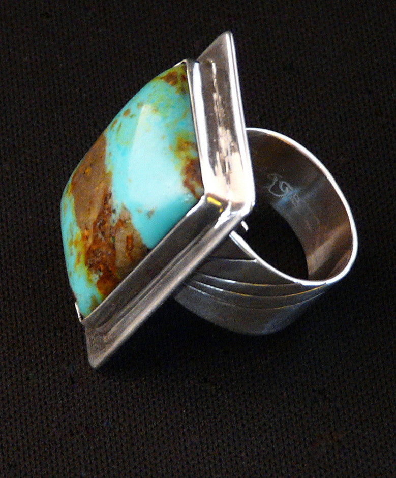 Patagonia Turquoise and Sterling Silver Adjustable Band Ring