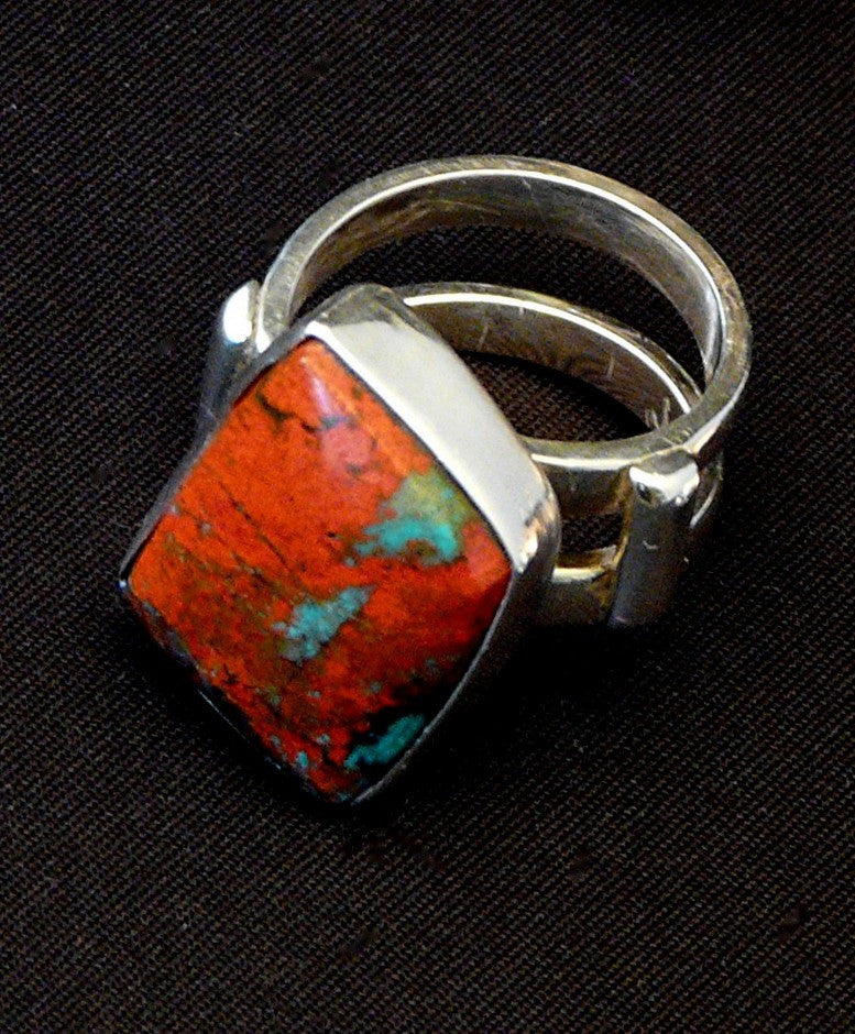 Sonora Sunset and Sterling Silver 2-Band Ring