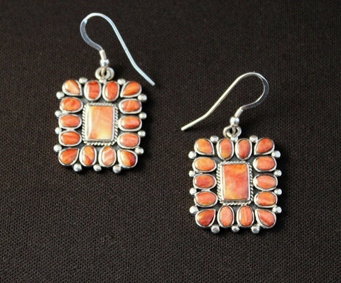 Spiny Oyster Shell and Sterling Earrings