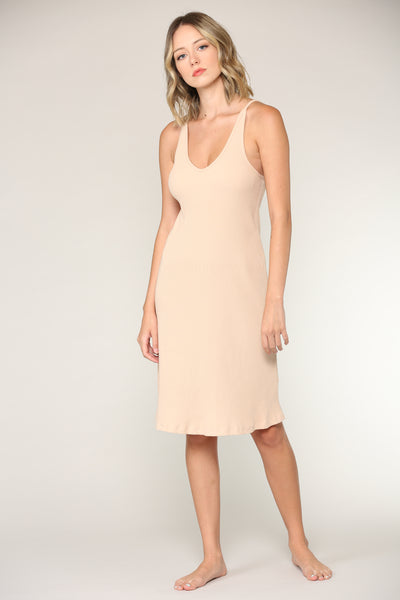 Kali Ribbed Slip Dress