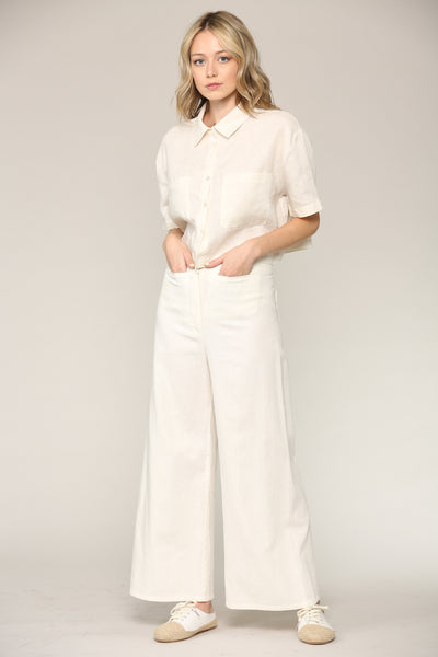 Lexi Canvas Wide Pants