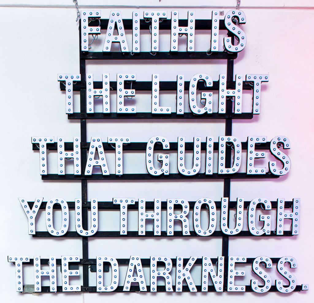Neon Artwork 'Faith Is The Light' by Matthew Bracey