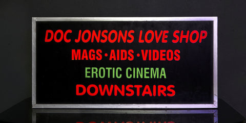 """Doc Jonsons Love Shop"" Vintage Light Box"