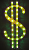 "Dollar Sign with ""Carnival Cap"" LED Lights"