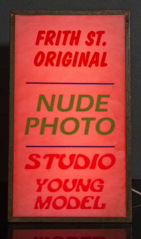 """Frith St. Original Nude Photo"" Vintage Light Box"
