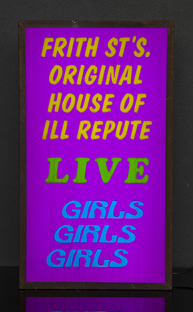 """Frith St's. Original House of ILL Repute"" Vintage Light Box"
