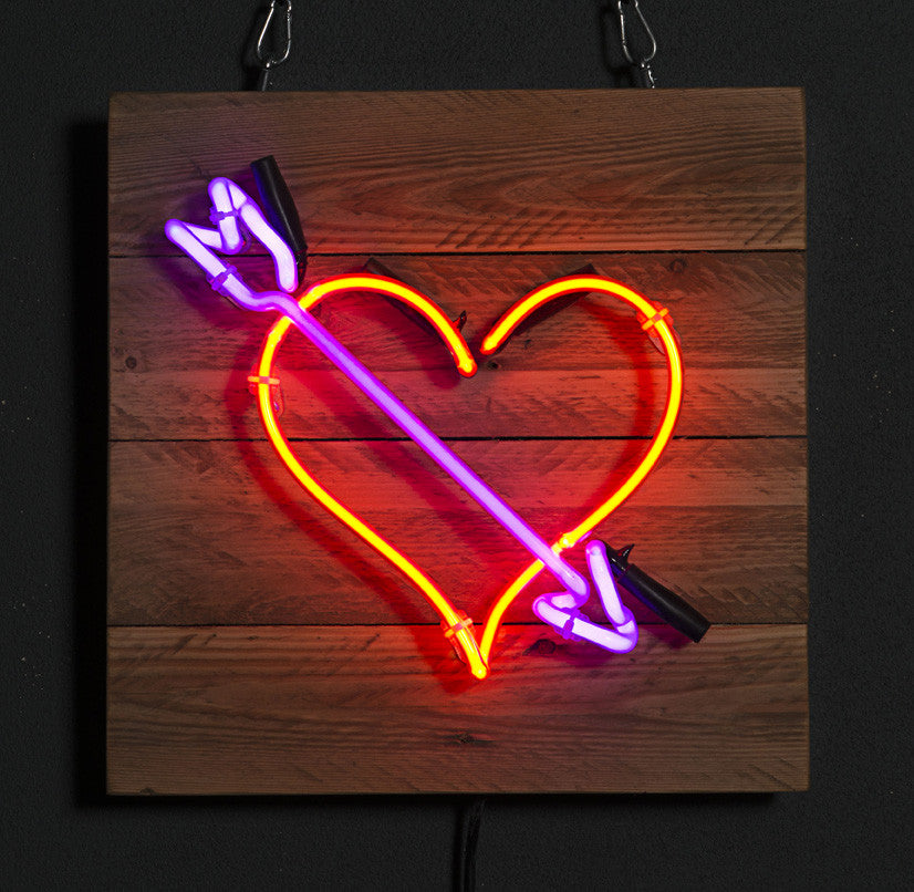Neon Heart with Arrow