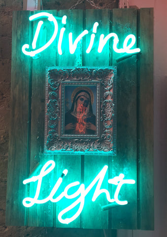 Divine Light, Neon Artwork by Gods Own Junkyard