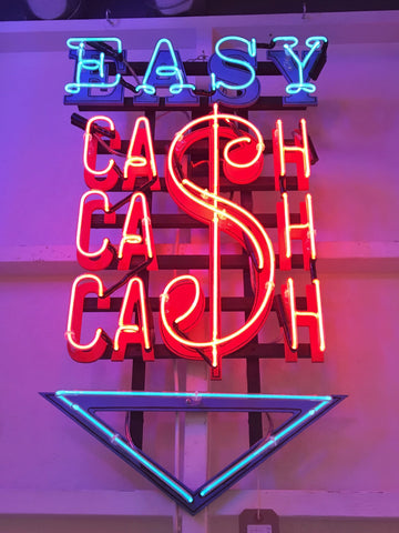 Easy Cash, Neon Artwork by Marcus Bracey